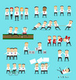 business team characters teamwork partnership vector image
