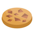 chocolate piece cookie icon isometric style vector image