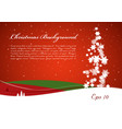 christmas background with tree from snowflakes vector image vector image