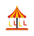 circus carousel icon flat style vector image vector image