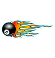 classic tribal hotrod muscle car flame with 8 ball vector image
