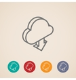 cloud with download arrow isometric icons vector image vector image