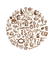 Coffee time design elements vector image vector image
