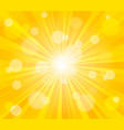 Comic yellow sun rays background pop art retro
