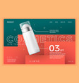 cosmetic deodorant on modern site template vector image vector image