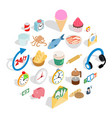 cure icons set isometric style vector image vector image
