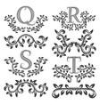 design ornamental elements and monograms set vector image vector image