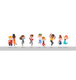 diverse group happy people jumping vector image
