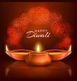 diwali indian festival lights poster vector image vector image
