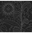 Drawing doddle seamless pattern vector image vector image