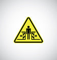 entrapment risk sign vector image