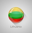 european flags set - lithuania vector image vector image