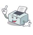 finger printer mascot cartoon style vector image