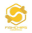 fish and chips logo vector image vector image