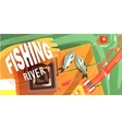 Fishing On The River With Only Hands vector image vector image
