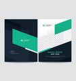 front and back annual report cover design vector image