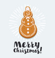 gingerbread snowman vector image vector image