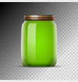 glass jars with jam canned vector image