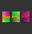 gradient fluid poster set cool brochure liquid vector image vector image