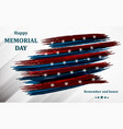 happy memorial day poster or banner happy vector image vector image