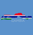 high detailed map of gambia eps 10 vector image vector image
