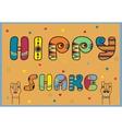 Hippy Shake Artistic font vector image