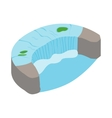 Horseshoe Fall icon isometric 3d style vector image vector image