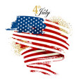 independence day waving flag vector image vector image