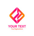 initial letter fb logo template colorfull square vector image vector image