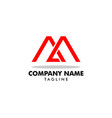 initial letter ma logo template design vector image vector image