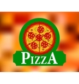 italian pizza restaurant label vector image