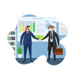 leader company welcome partner for meeting vector image vector image