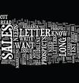 long sales letters vs short sales letters text vector image vector image
