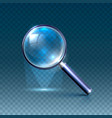 magnifying glass art blue vector image vector image