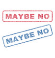 maybe no textile stamps vector image vector image
