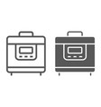 multicooker line and glyph icon kitchen vector image vector image