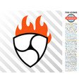 nem flame flat icon with bonus vector image vector image