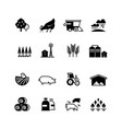 organic farm and agriculture silhouette vector image vector image