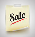 Paper note isolated with sale text vector image