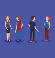 persons group isometric avatars vector image vector image