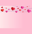 pink background valentines day red and pink vector image vector image