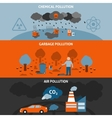 Pollution Banners Set vector image vector image
