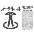 Prison Icon with 1000 Medical Business Pictograms vector image vector image