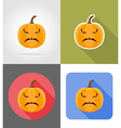 pumpkins for halloween flat icons 03 vector image vector image
