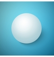 Realistic 3D Ball Isolated on a Blue vector image