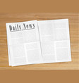 realistic newspaper vector image vector image