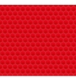 Red Pattern Hexagon Mosaic vector image vector image
