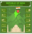Republic of India infographics statistical data vector image vector image
