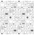 Ribbons and Arrows hand drawn seamless pattern vector image