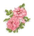 rose pixel vector image